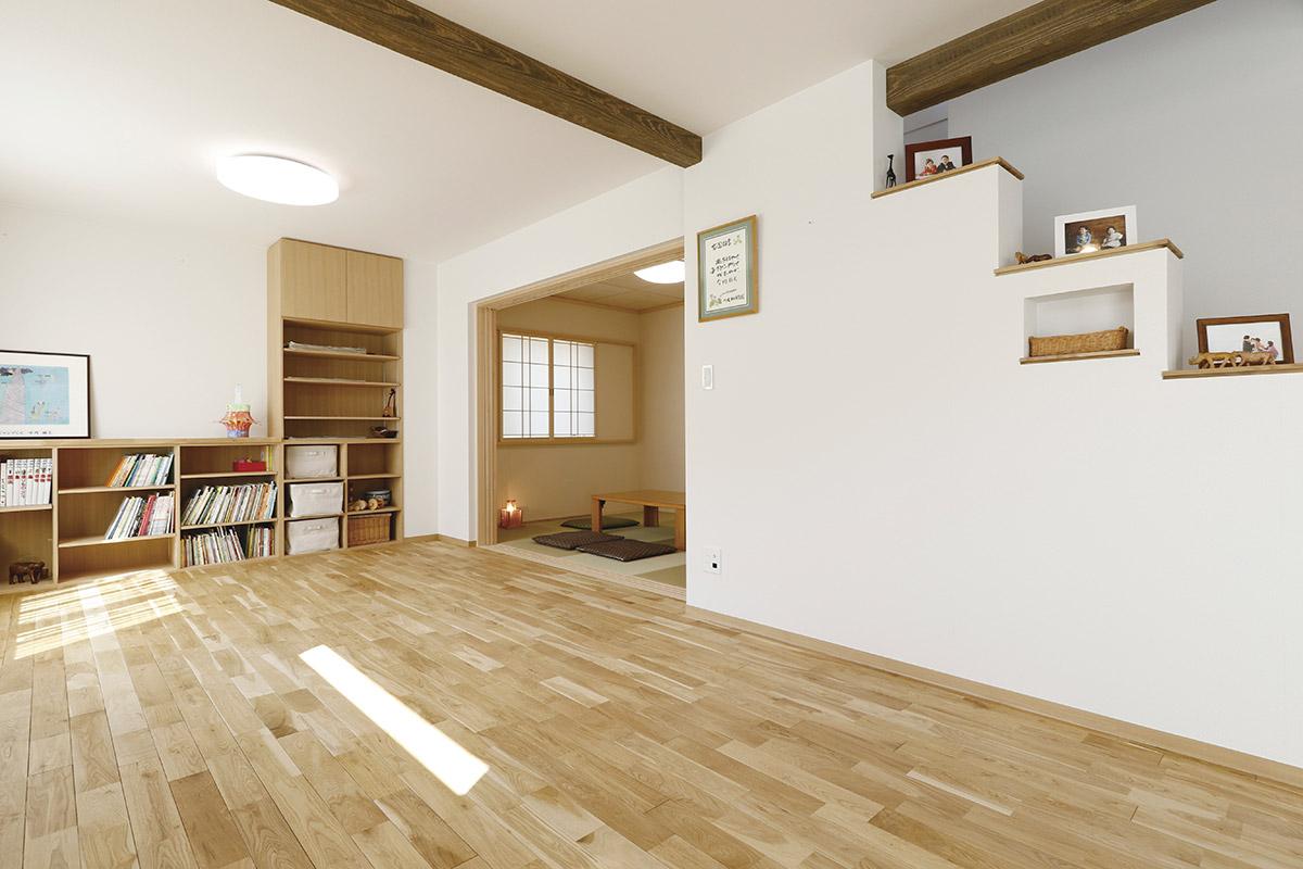 パッシブ換気が家づくりの決め手。健康的で暖かい自然素材の家