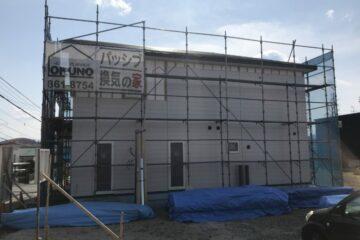 U・T様邸新築工事 外壁工事開始