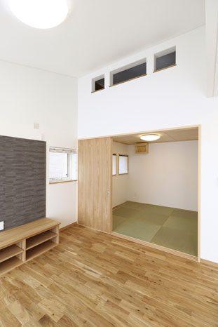 和室の上部はロフト空間となっている